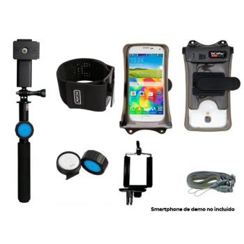 "KIT DICAPAC ACTION + PALO SELFIE FLOTANTE + FUNDA + ARMBAND HASTA 5.7"" (IPHONE 6 PLUS) DPSA-C2"