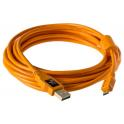 "TETHERPO USB 2.0 A MALE TO MICRO-B 5 PIN 15"" (4,6M) ORANGE CU5430ORG"