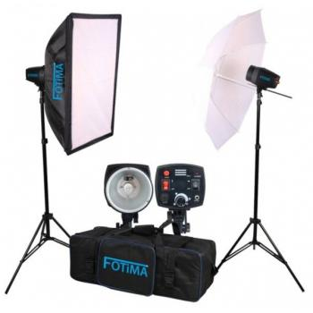 KIT FLASH ESTUDIO FOTIMA 2X160 FTF-160