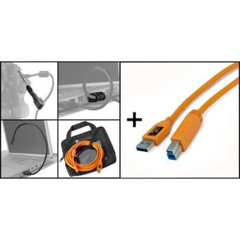 "STARTER TETHERING KIT W/ USB 3.0 SUPERSPEED A TO B 15"" ORG BTK60ORG"