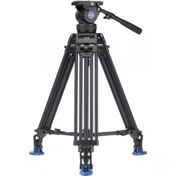 BENRO KIT TRIPODE VIDEO DOBLE TUBO ALUMINO BV10