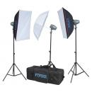 KIT FLASH ESTUDIO 3X200W FTF-200