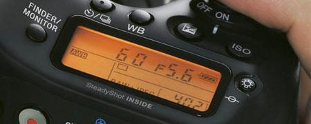 LCD Sony alpha 68