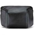 LEICA LEATHER POUCH, BLACK, LARGE FRONT