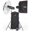 BOWENS XMS 1000 - KIT DOS FLASHES + ACCESORIOS