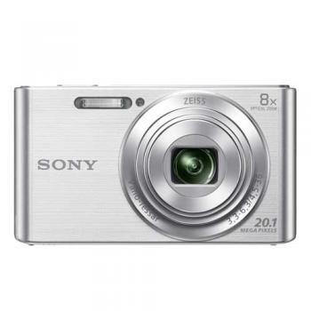 SONY W830 PLATA + FUNDA + 8GB (20.1MPX-8XZOOM-TACTIL-FULHD)