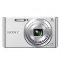 SONY DSC-W830 PLATA + FUNDA + 8GB (20.1MPX-8XZOOM-TACTIL-FULLHD)