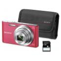 SONY DSC-W830 ROSA + FUNDA + 8GB (20.1MPX-8XZOOM-TACTIL-FULLHD)
