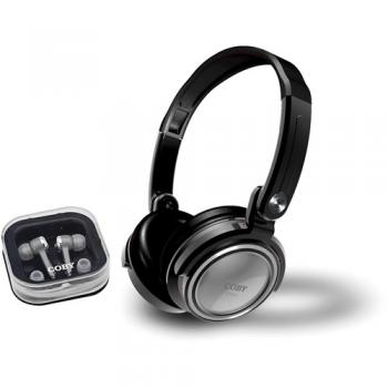 AURICULARES COBY CV215 COMBO PLATA