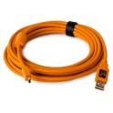 "TETHERPO USB 2.0 MALE TO MINI-B 5 PIN 15"" HI-VISIBILITY ORANGE  CU5451"
