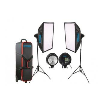 KIT FLASH ESTUDIO FOTIMA 2X400W FTF-400 DX