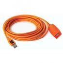 "TETHERPO USB 3.0 ACTIVE EXTENSION 16"" HI-VISIBILITY ORANGE  CU3017"