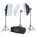 FOTIMA FTF-200 KIT FLASH ESTUDIO 3X200W