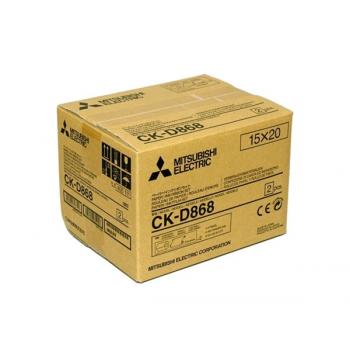 PAPEL MITSUBISHI CK-D868 15X20 430 COPIAS (PARA PC-MAC *GRIS*)