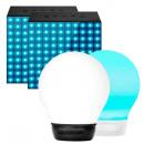 PACK ALTAVOCES DIVOOM: 2 AURABOX 5 COLORES + 2 AURABOX LED 4.0