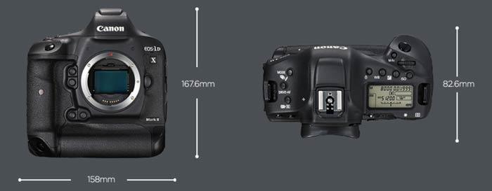 Canon EOS 1Dx Mark II - Medidas y Especificaciones