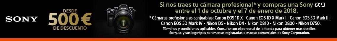 Promoción 500€ de descuento en Sony ALPHA 9
