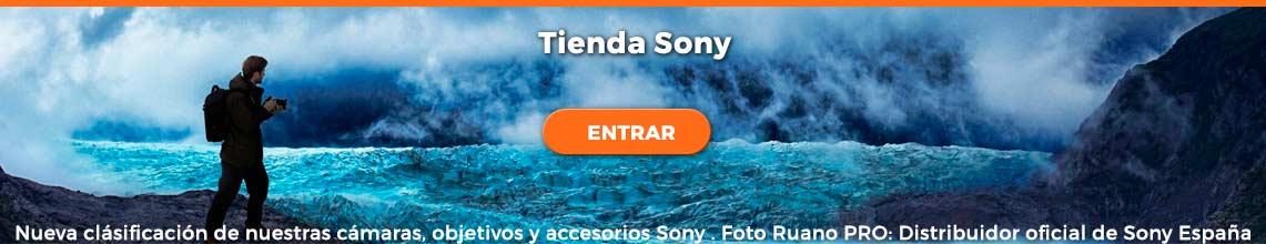 Tienda cámaras, objetivos y accesorios Sony