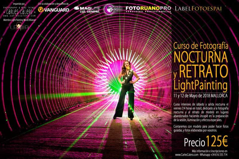 Curso Fotografía y retrato nocturno LightPainting con Carles Calero