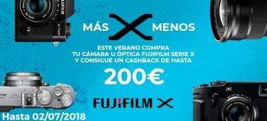 Promoción Cashback Fujifilm Verano 2018