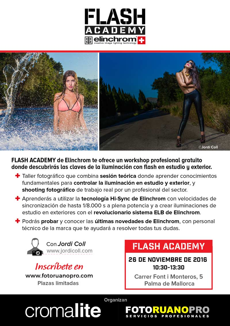 Elinchrom Flash Academy con Jordi Coll