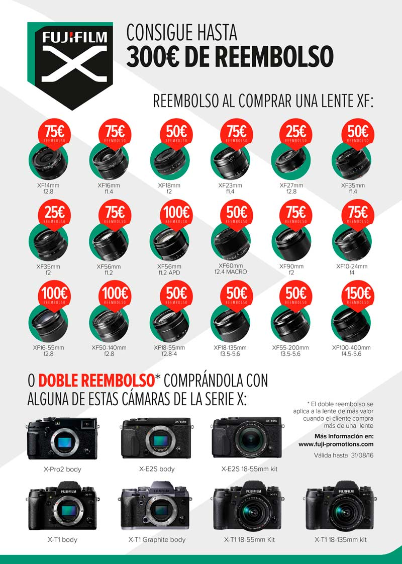 Cashback Fujifilm Verano