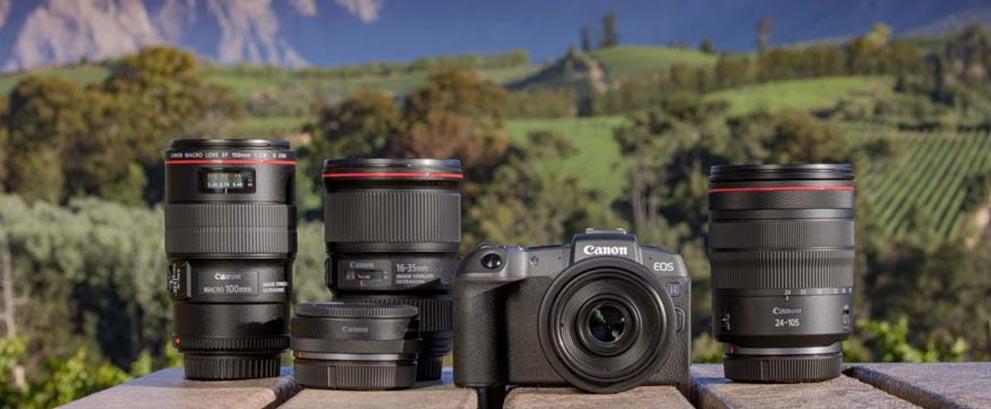 Gama Canon EOS RP y EOS RF