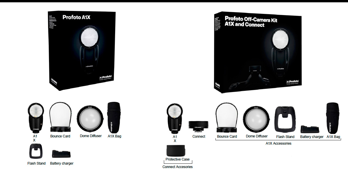 Profoto A1X - Kits disponibles