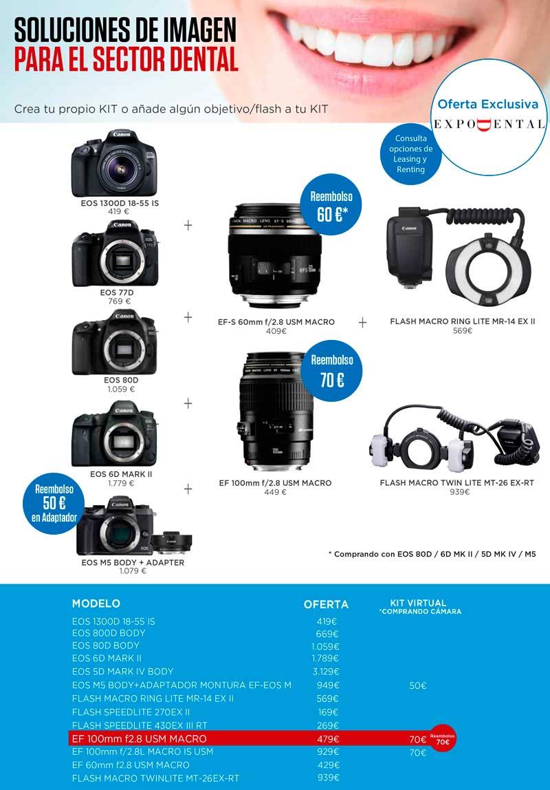 Ofertas Canon Expodental 2018