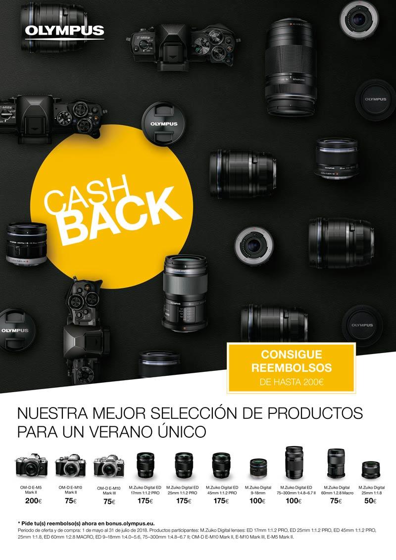 Promoción Cashback Olympus Verano 2018