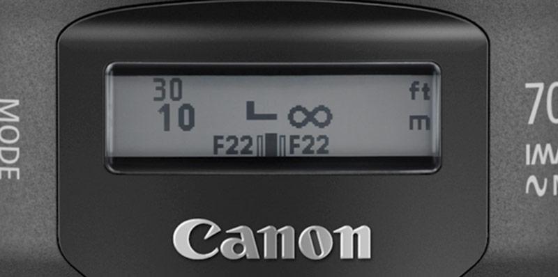 Pantalla electrónica en nuevo Canon 70-300