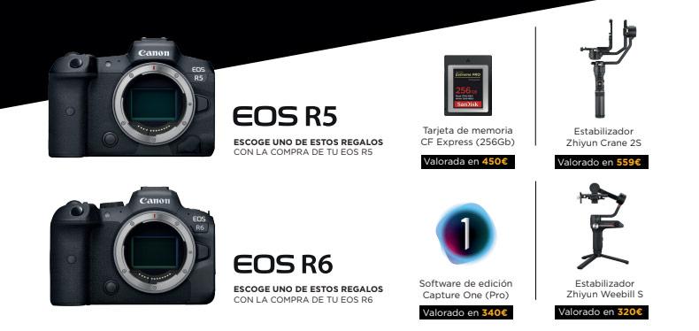 Promoción regalos Canon EOS R5 y EOS R6