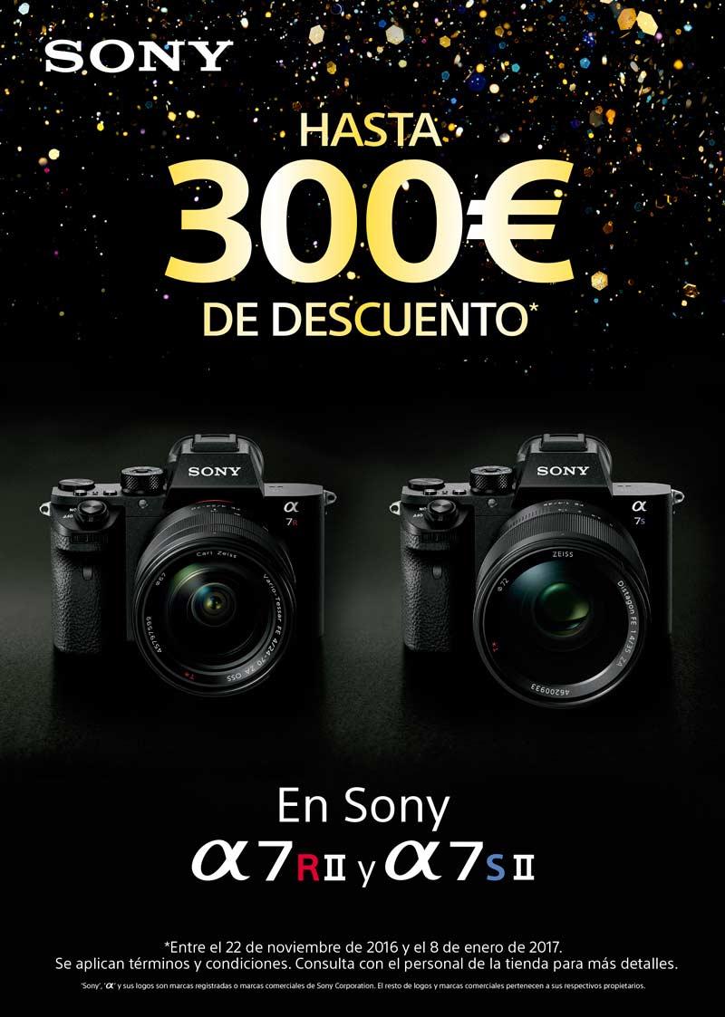 Promoción Sony 300€ de descuento en Sony A7rII y Sony A7sII