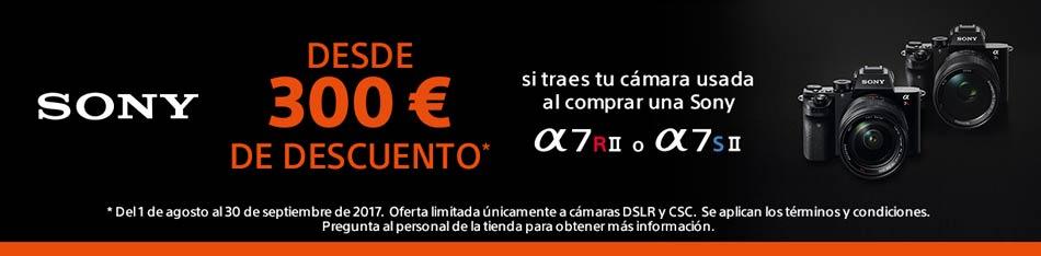 Promoción 300€ de descuento en Sony a7sII y a7rII
