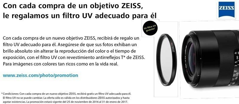 Promoción Zeiss Filtro GRATIS