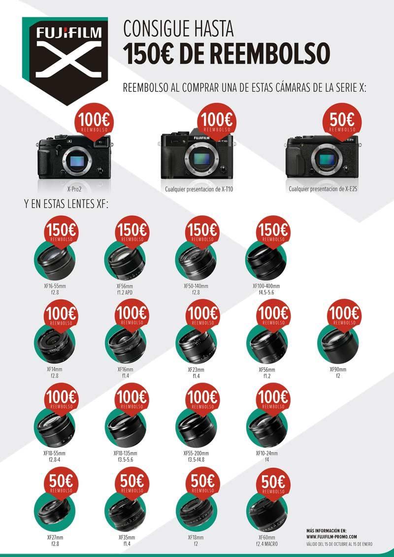 Reembolso Fujifilm hasta 150€