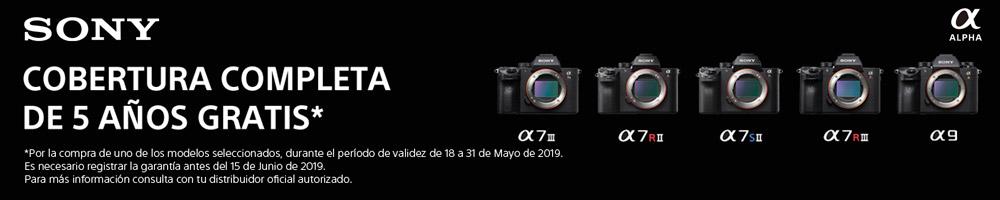 Promoción Garantía total 5 años Sony full frame