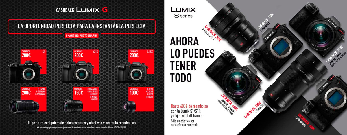 Cashback Panasonic España - LUMIX G y LUMIX S