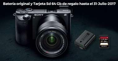 Promoción Sony Batería y tarjeta de regalo