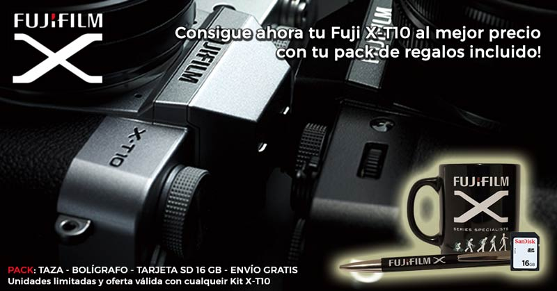Espacial Fujifilm X-T10 - Pack regalos