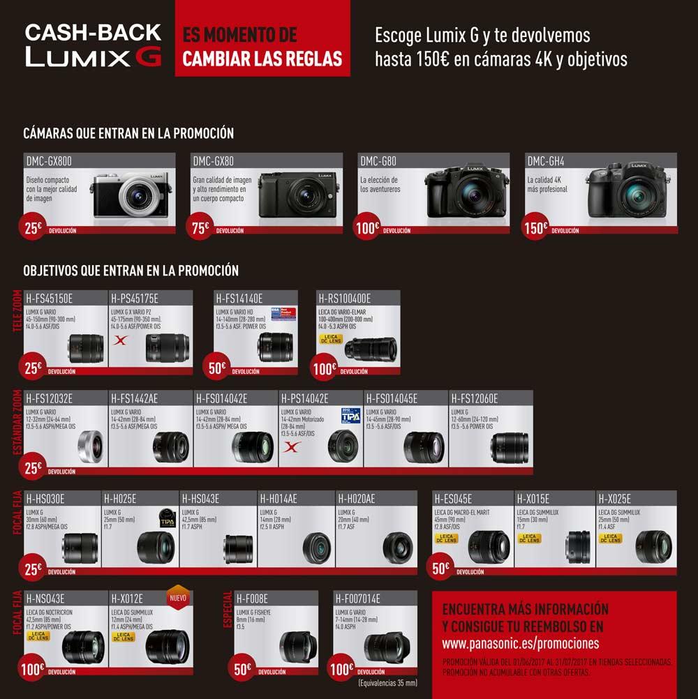 Promoción cashback Panasonic LUMIX Verano 2017