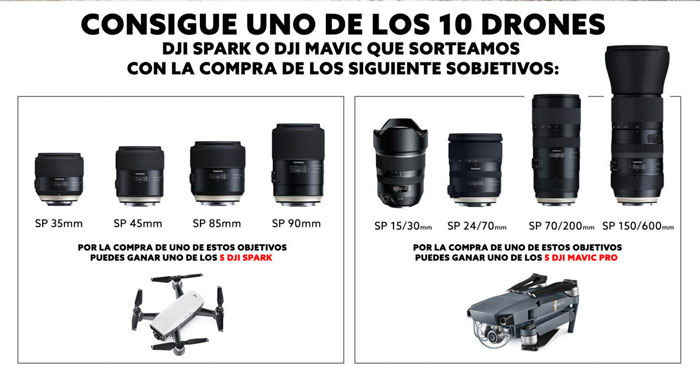 Sorteo Tamron drones DJI