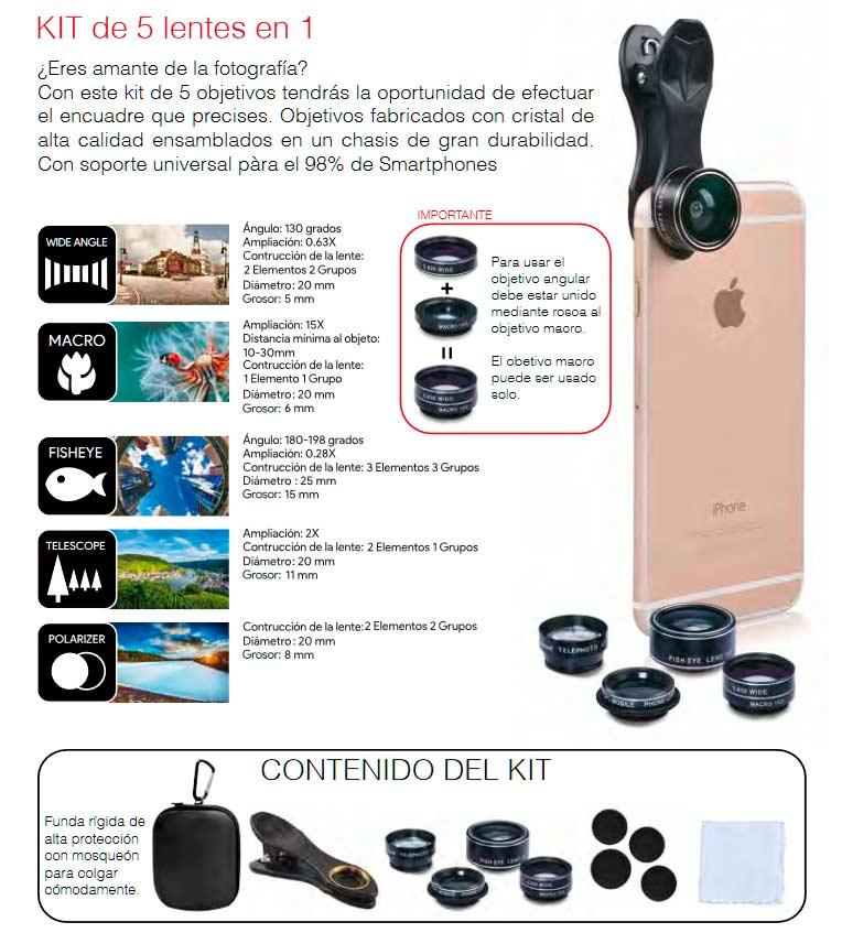 Kit de lentes para smartphone Swiss-Go