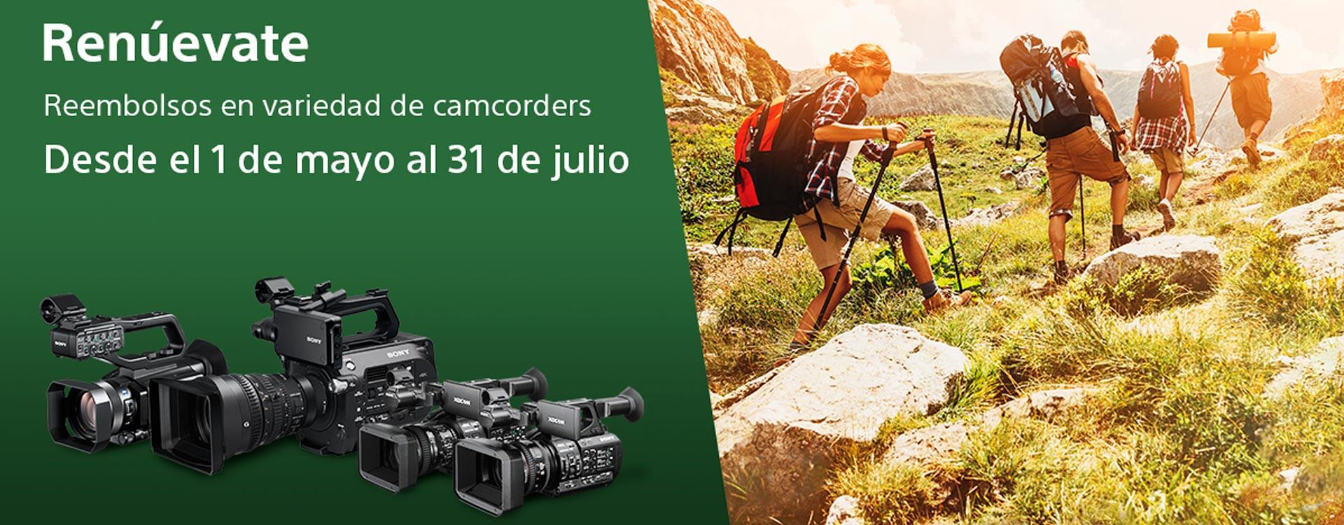 Cashback Vídeo profesional Sony del 01-May al 31-Jul de 2019